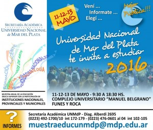 La Universidad te invita a estudiar 2016