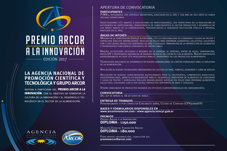 Premio Arcor a la Innovación 2017