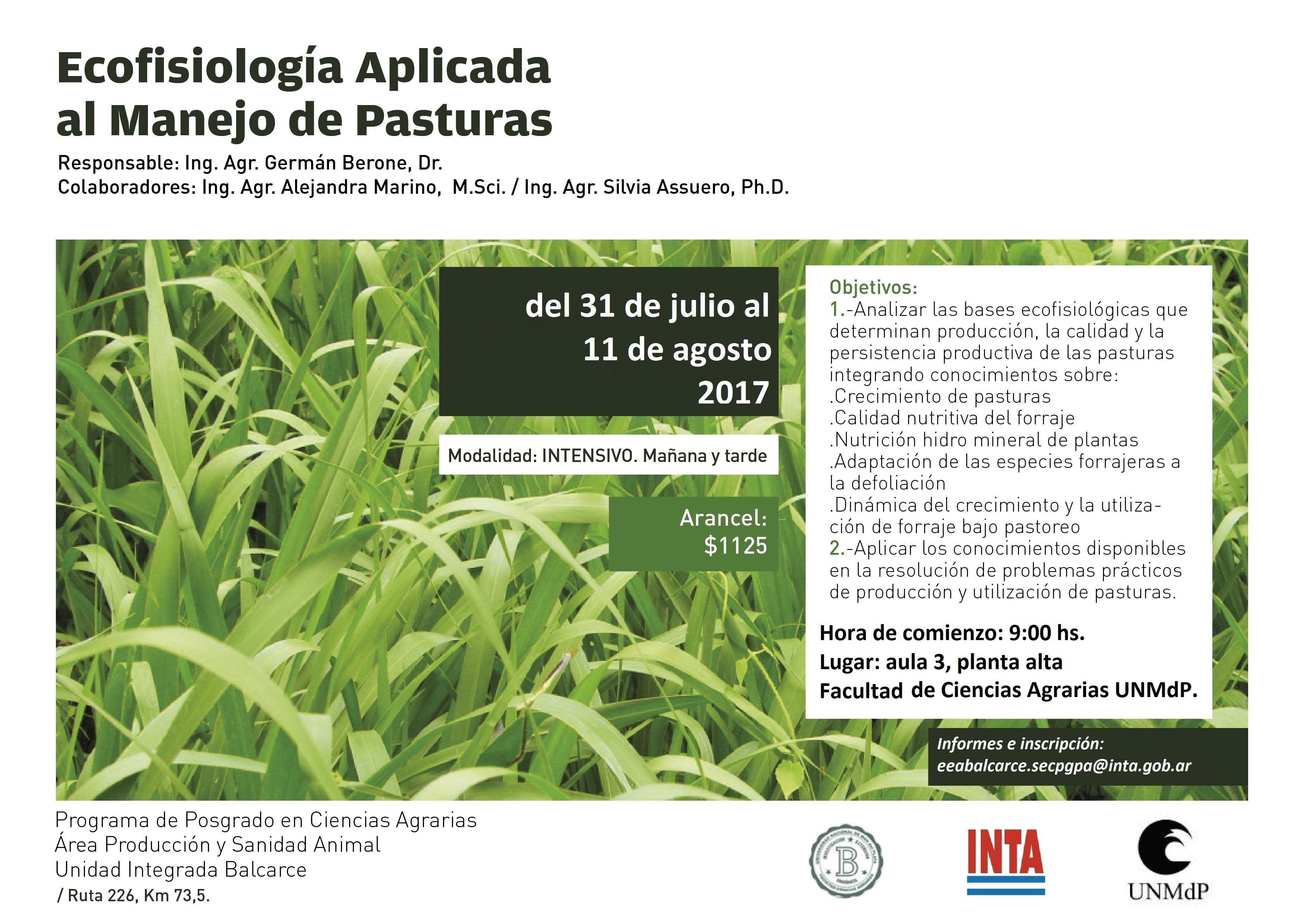 Ecofisiología Aplicada al Manejo de Cultivos