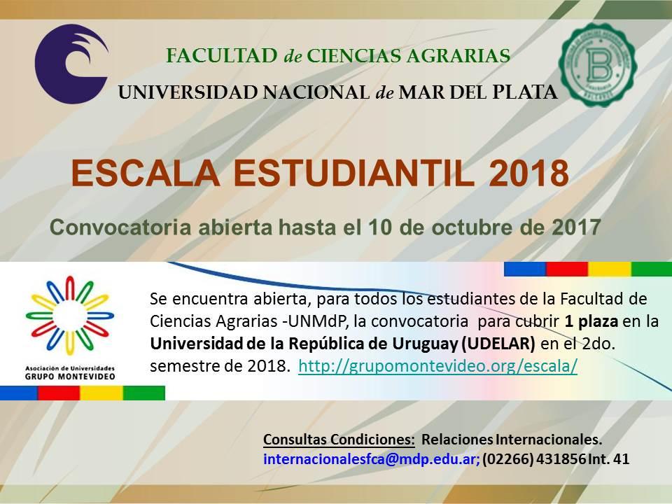 Escala Estudiantil 2018